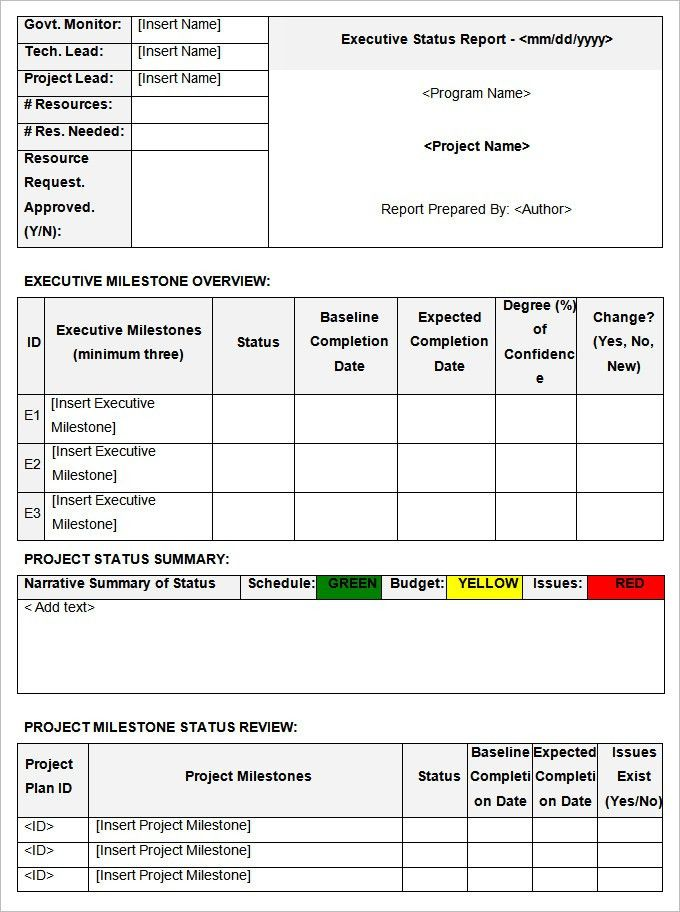 Status Report Templates - 7+ Free Word Documents Download | Free ...