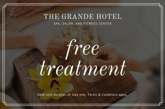 Yellow Spa Photo Bordered Hotel Gift Certificate - Templates by Canva