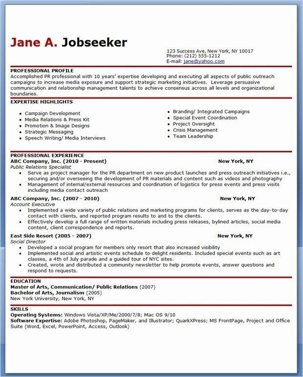 Pr Resume Objective. business resume objective to get ideas how to ...