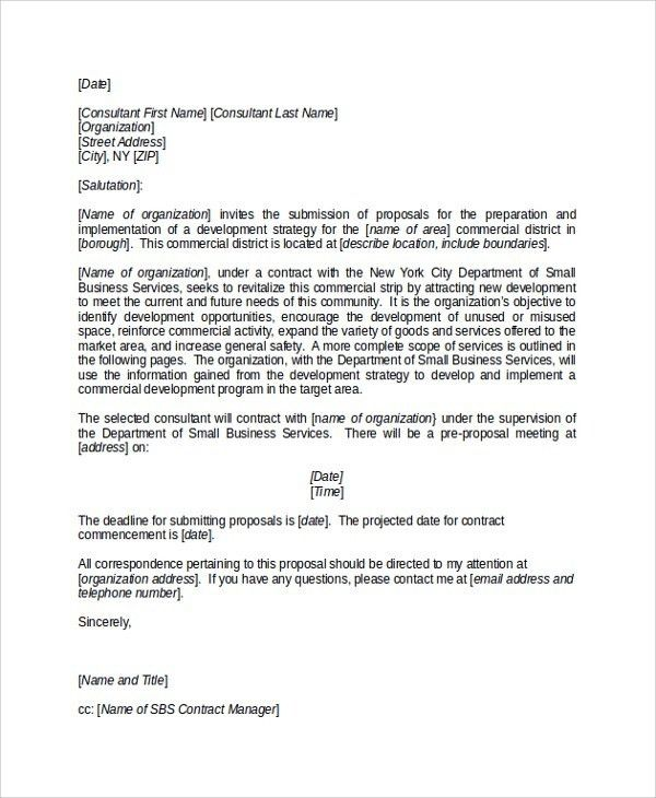 Cover Letter For Business Proposal | The Letter Sample