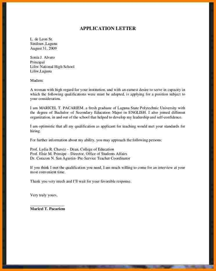 Cover Letter Sample For Fresh Graduate In Business Administration ...