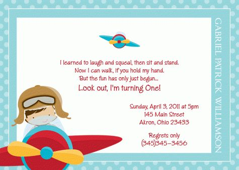 Airplane Birthday Invitations - Themesflip.Com
