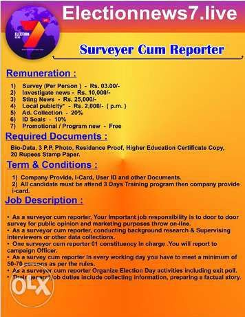 Available Surveying Jobs in India