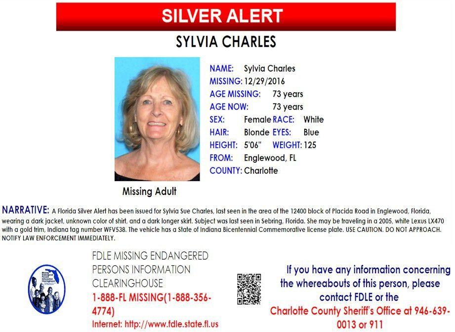 Sylvia Charles – Englewood, Fl : Missing People Help