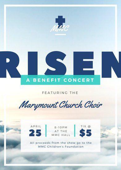 Church Choir Benefit Concert Flyer - Templates by Canva