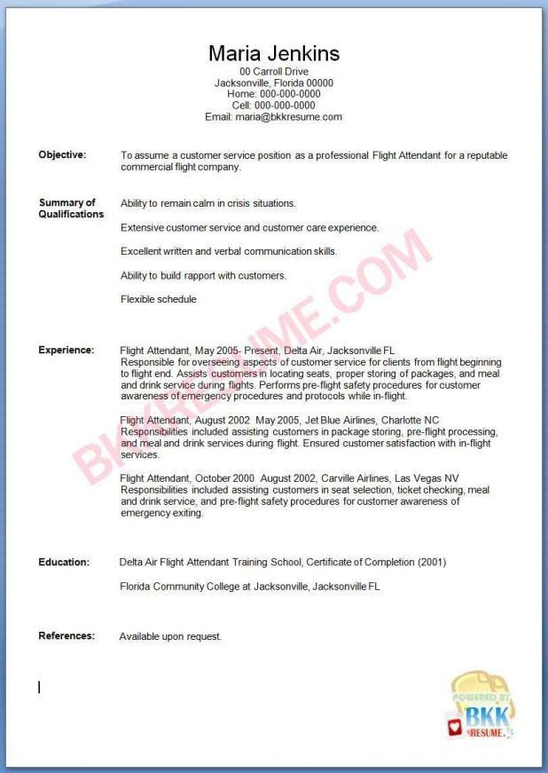cv format for airline cabin crew nursing resume word template ...