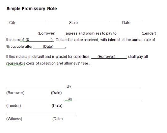 Free Promissory Note Template Word | Calendar Template Letter ...