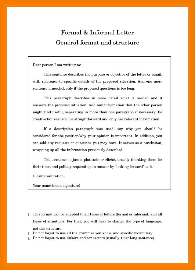 5+ format of informal email | resume holder