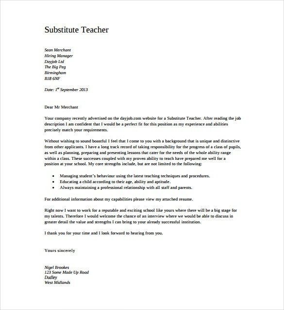 Shining Design Teacher Cover Letter 15 Secondary Sample - CV ...