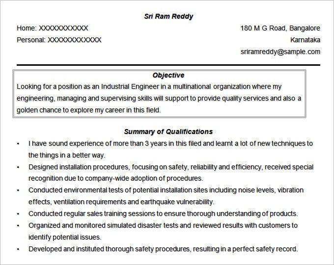 Engineering Resume Objective | berathen.Com