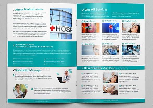 8 Professional Hospital Brochure Templates for Business Promotion ...
