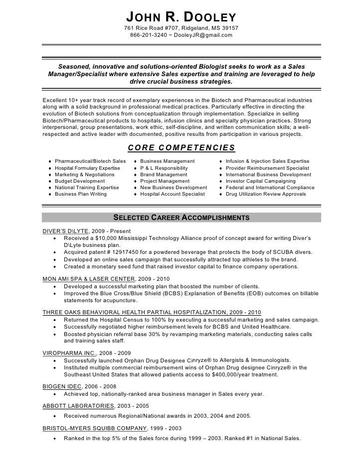 Resume Examples For Sales. Sales Resumes Examples Sales Resume 20 ...