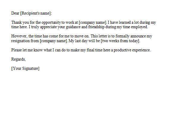 Resignation Letter Format: Good Wishing Resignation Letters 2 ...