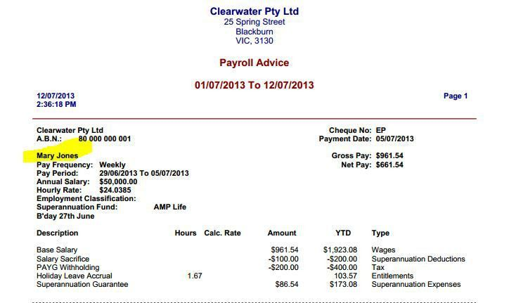 Payroll: Pay Slip- Employee's name in emailed PDF ... - MYOB Community