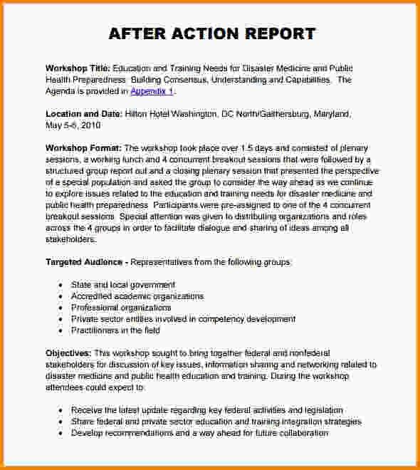 After Action Report Template.after Action Report Format.jpg ...