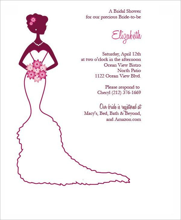 Bridal Shower Invitation Templates - cloveranddot.Com
