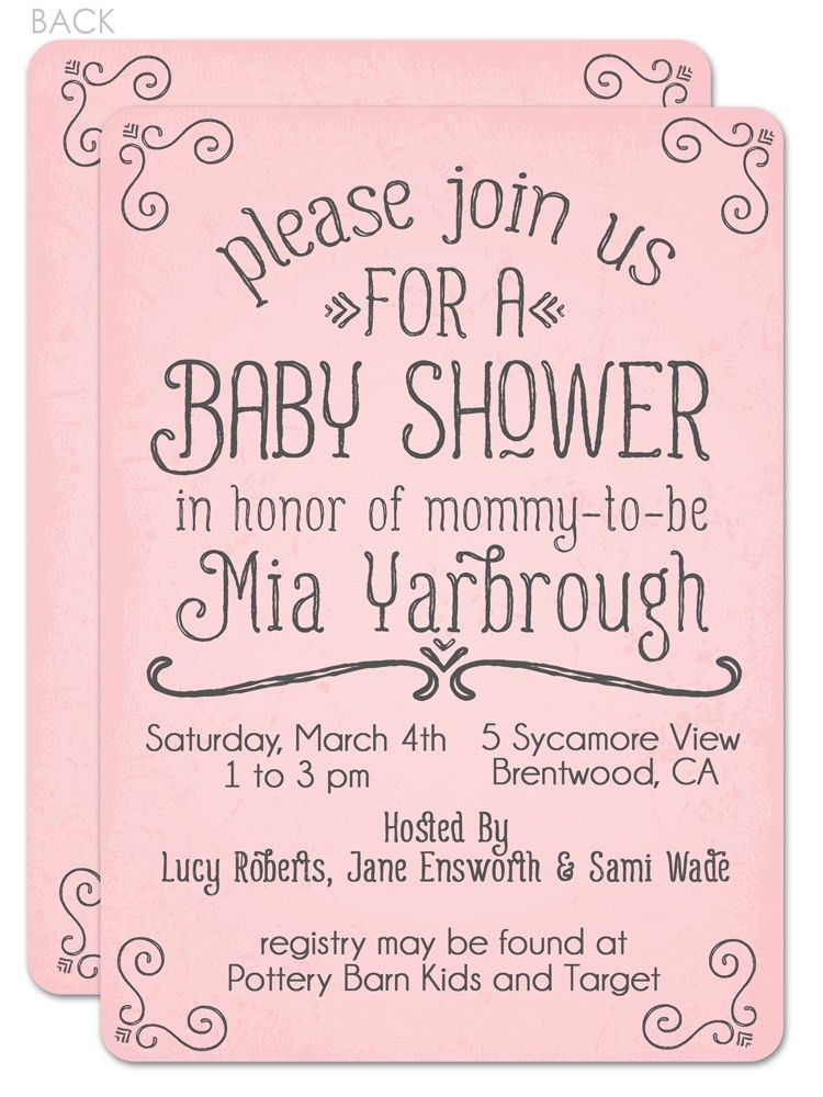 Simple Baby Shower Invitation Wording | THERUNTIME.COM