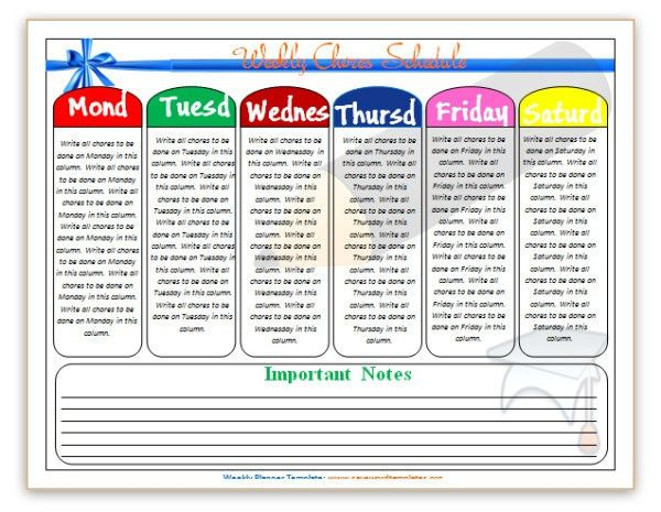 Pin Word Templates: Daily Planner Templates