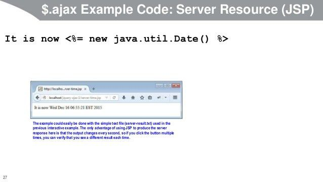 JavaScript and jQuery Programming Tutorial: jQuery Ajax Support: Basi…