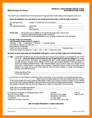 8+ recurring credit card authorization form | farmer resume