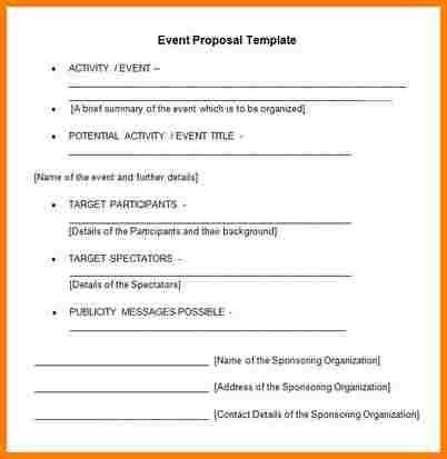7+ event proposal sample letter | Proposal Template 2017