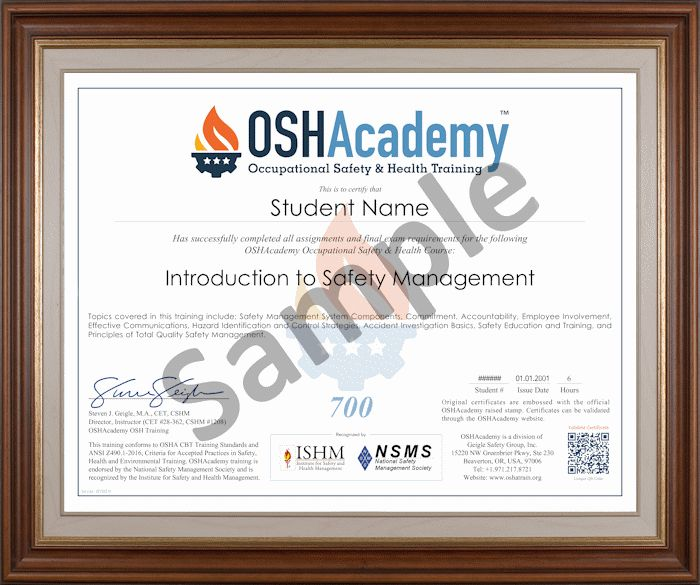 Training Programs - Store - OSHAcademy