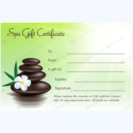 100+ Spa Gift Certificate Templates - Word Layouts