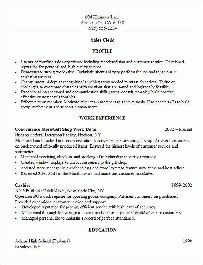 Resume For Retail Sales   Resume Badak