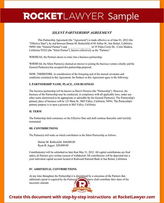 6+ partnership agreement sample | Outline Templates