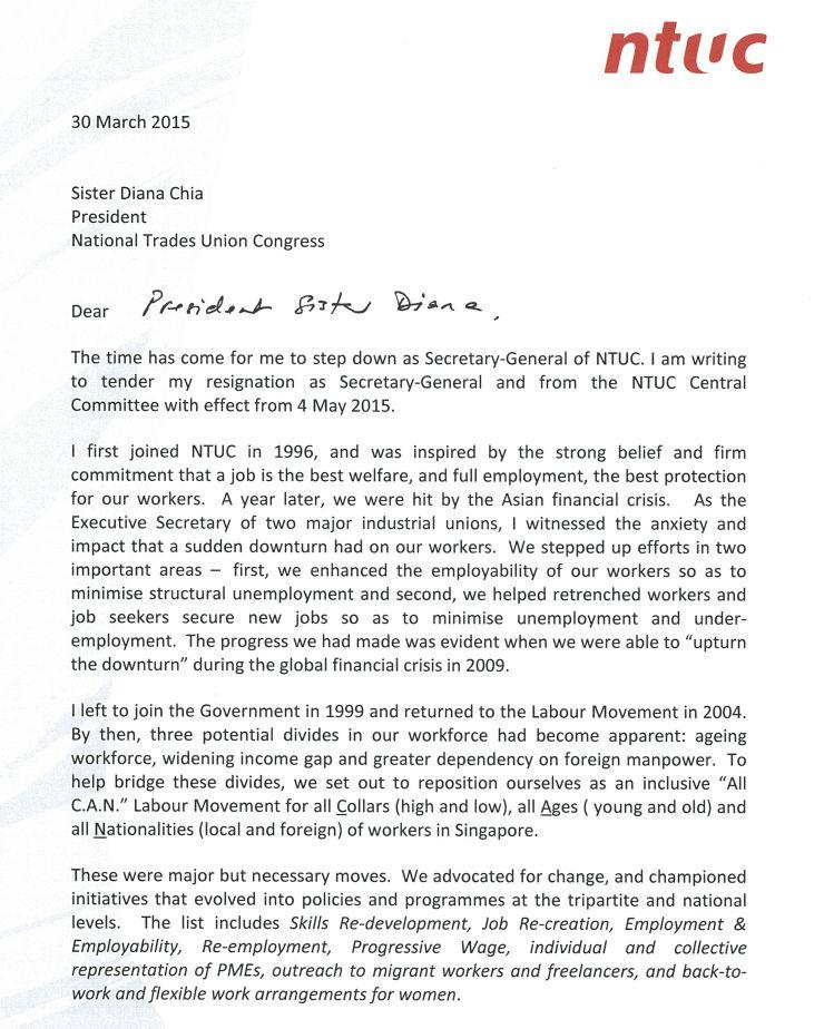 Tender My Resignation Letter