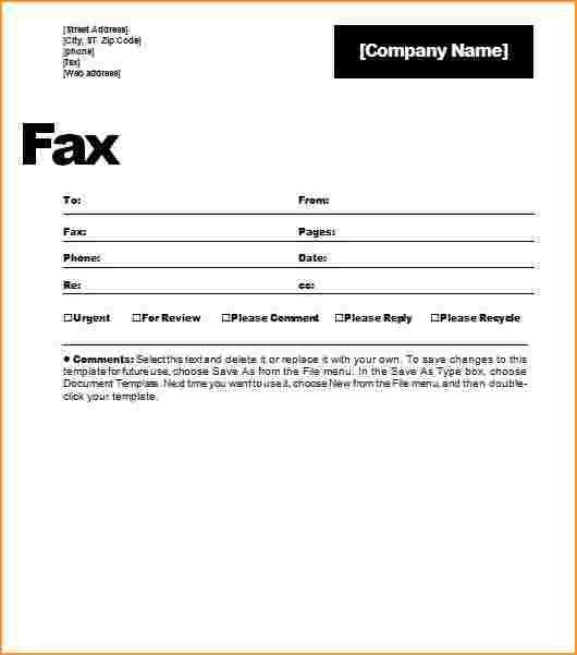 Fax Cover Sheet Template.standard Fax Cover With Standard Format ...