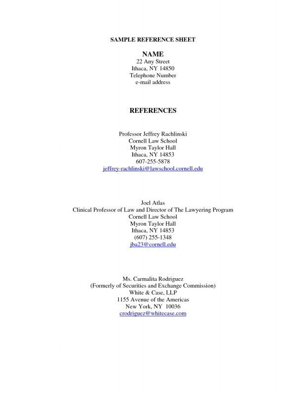 resume references sample page. 14 cv references format event ...