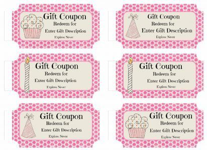 Free Custom Birthday Coupons | Products I Love | Pinterest ...