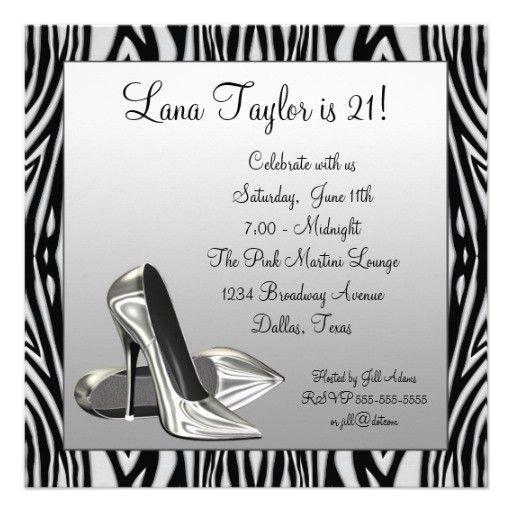 Personalized 21st birthday Invitations | CustomInvitations4U.com