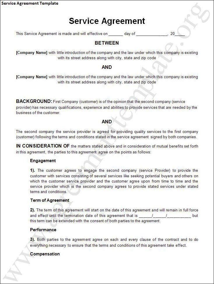 free-service-contract-agreement-template_141772.jpg (734×974 ...
