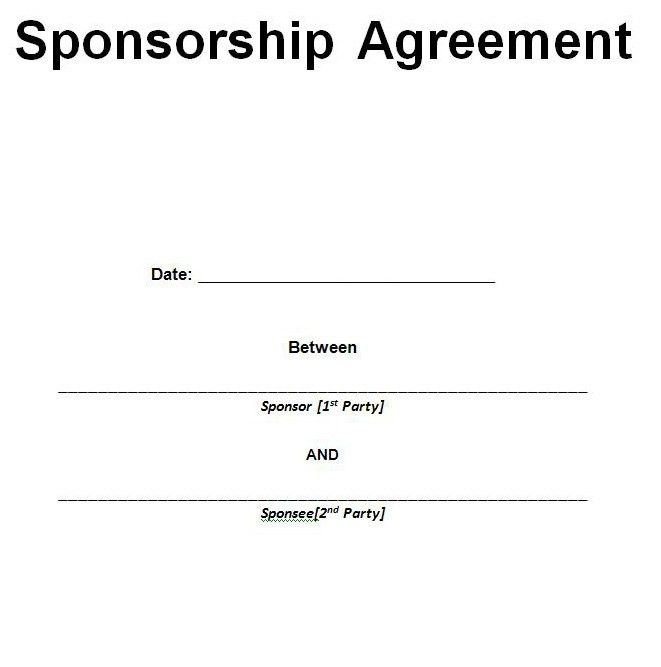 Sponsorship Proposal Template Samples and PDF - Excel About