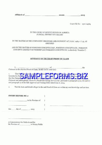 Affidavit of Truth templates & samples forms