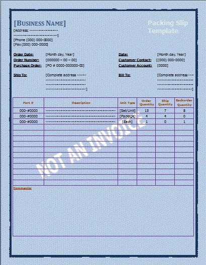 Packing Slip Template | Free Microsoft Word Templates | Free ...