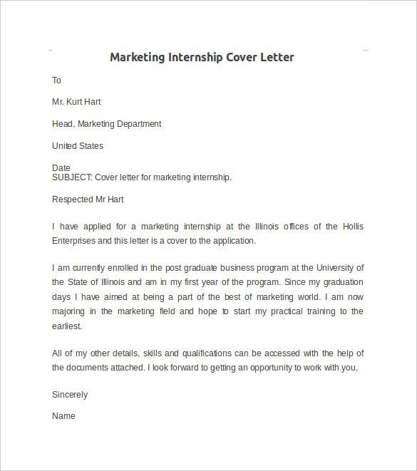 Internship Cover Letter Sports Marketing Internship Cover Letter ...