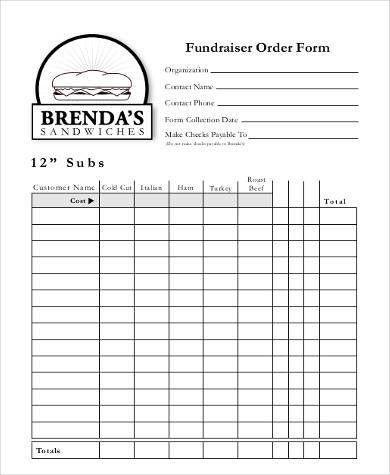 Fund Raiser Order Form. Fundraiser 29 Best Fundraiser Images On ...