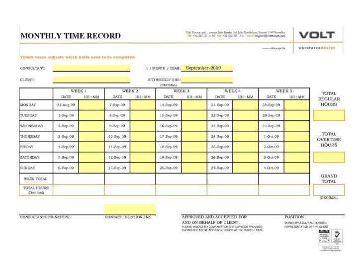 Job Time Sheets Templates | HAISUME
