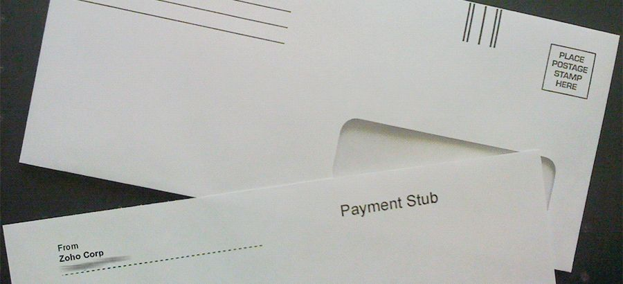 Send your invoices through the postal mail
