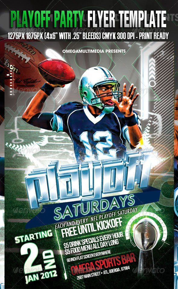15 Flyer PSD Sports Images - Football Flyers Templates Free, Free ...