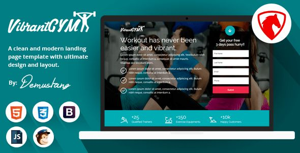 Lead Gen Landing Page Templates from ThemeForest