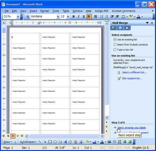 Microsoft Excel / Word How-to: Mail Merge Setup | Symplebyte