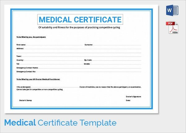 Sample medical certificates medical certificate template 20 free sample medical certificate 27 download documents in pdf word yadclub Gallery