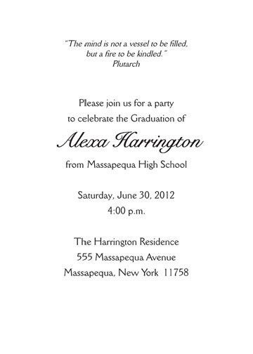 Graduation Party Invitation Wording Samples - iidaemilia.Com