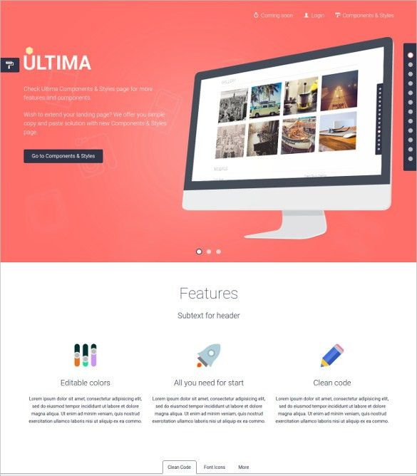 30+ HTML5 Landing Page Themes & Templates | Free & Premium Templates