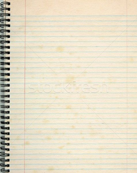 Old lined paper in a notepad. stock photo © Stephen Rees (latent ...