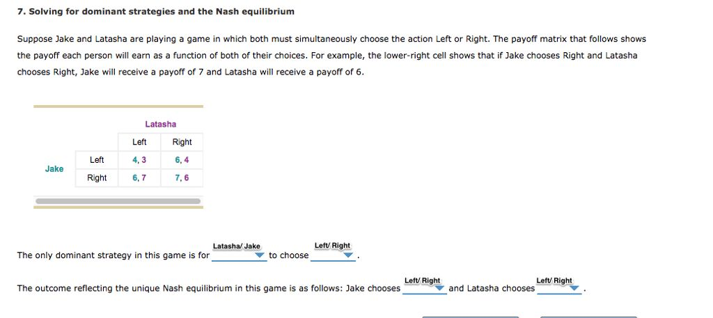 Solving For Dominant Strategies And The Nash Equil... | Chegg.com